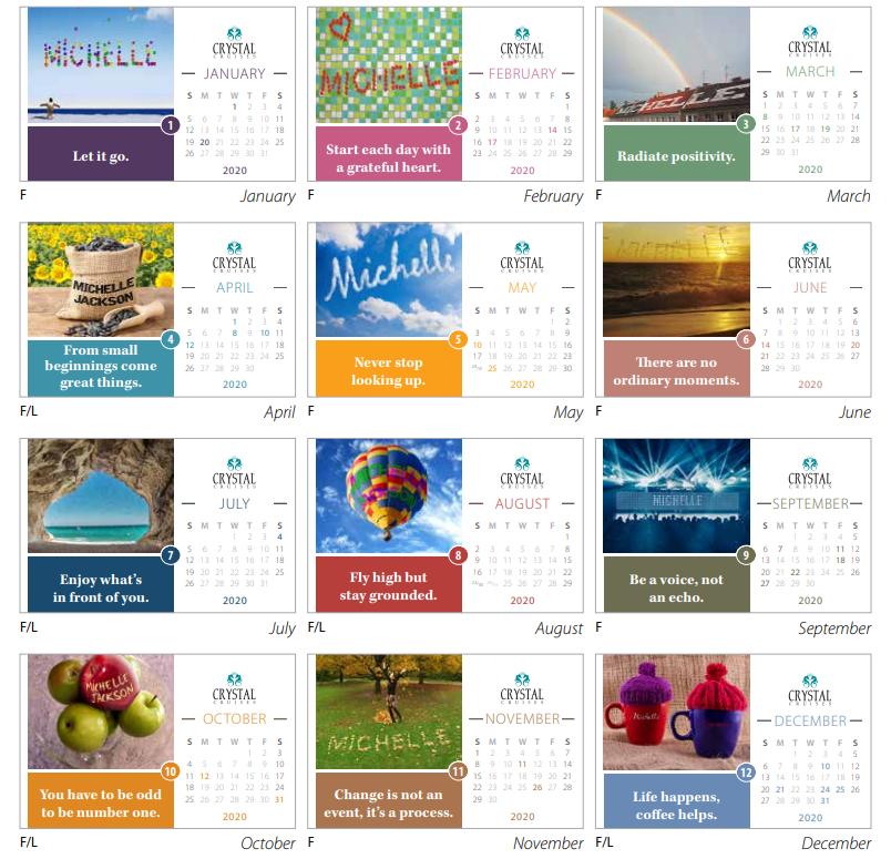MARQUETTE Calendar Images